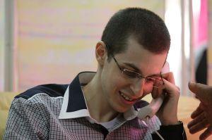 gilad shalit calls his parents after returning to Israel